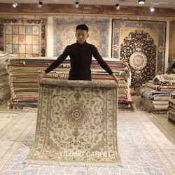 Clearance Yilong 4and039x6and039 Home Decor Handmade Wool Rug Blanket Woollen Carpet 2061