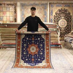 Clearance Yilong 4and039x6and039 Floral Handmade Wool Rug Home Decor Woollen Carpets 2060