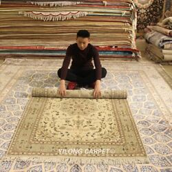 Clearance Yilong 4and039x6and039 Handmade Wool Area Rug Handwoven Home Decor Carpet 2048