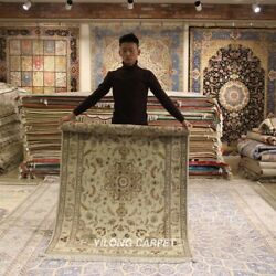 Clearance Yilong 4and039x6and039 Antique Handmade Wool Rug Blanket Flooring Carpet 2068