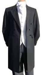 Andpound25 Long Black Goth Gothic Style Halloween Frockcoat Frock Coat 36 38 40 42 44