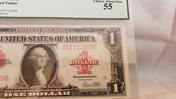 1923 1 Legal Tender Fr-40 - Red Seal - Graded Pcgs 55 -choice About New