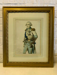 Antique Francois Gerard Etching Print Frederick Augustus First King Of Saxony