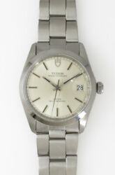 Tudor Oysterdate Ref.9050/0 Ss Cal.2784 1970's Automatic Watch Overhauled