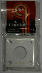 Capital Holder 2x2 For 1/4 Oz. Panda Coin White Acrylic Plastic Display Case New