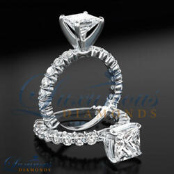 D Si2 Diamond Wedding Ring 1.75 Carat Solitaire With Accents 14k White Gold