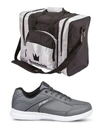 Mens Kr Strikeforce Flyer Lite Bowling Shoes Slate Size 6-14 And Silver 1 Ball Bag