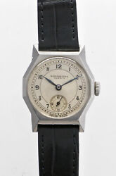 Winegartens Small Second Two Tone Dial Manual Vintage Watch 1930's Overhauled