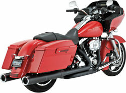 Vance And Hines - 46759 - 4-1/2 Hi-output Slip-on Exhaust Mufflers Black