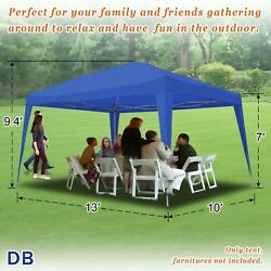 10and039x10/ 13and039 Pop Up Wedding Party Tent Folding Gazebo Bbq 210d Canopy W Carry Bag