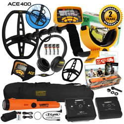 Garrett Ace 400 Metal Detector W/ Z-lynk Wireless System Pro Pointer At And Bag