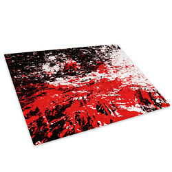Red Black White Paint Glass Chopping Board Kitchen Worktop Saver