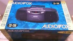 Vintage Audiovox Cd-198 Portable Am Fm Stereo Cassette Recorder Cd Player New
