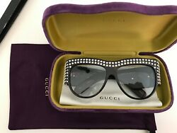 Gucci Hollywood Forever Oversize acetate sunglasses with crystals