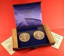 1974 Cayman Islands 25 Dollar And 1974 Turks And Caicos 20 Crown Silver Coin Set