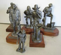 Collection Of 6 Michael Ricker Pewter Figurines - American Courage+ 5 More [jbs]