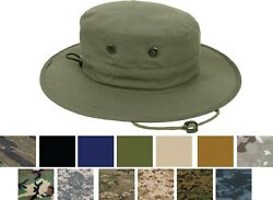 Adjustable Boonie Hat Tactical Jungle Bucket Fishing Sun Wide Brim One Size Cap $14.99