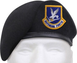 Midnight Blue Defensor Fortis Beret Us Air Force Usaf Flash Inspection Ready