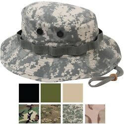 Ripstop Boonie Hat Lightweight Camo Wide Brim Military Bucket Bush Summer Sun $12.99