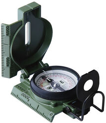 Olive Cammenga Gi Military Phosphorescent Lensatic Compass With Case Us Made