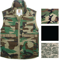 Kids Camo Ranger Vest Multi Pocket Military Tactical Army Hiking Fishing Travel $32.99