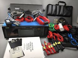 Dranetz 658 Power Quality Analyzer With Probes Cases Manual And Accessories