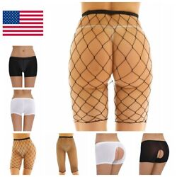 Women Sexy Fishnet Underwear High Waist Legging Half Pants Night Gift Sleepwear