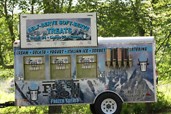 The Fresh Cow Treat Trailer soft serve desserts and toppings branded