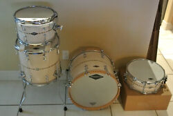 2011 SIGNED JOHNNY CRAVIOTTO SOLID MAPLE DRUM SET 18