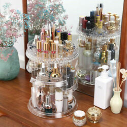 360 Degree Rotating Makeup Cosmetic Clear Rack Holder Organizer Storage Case $23.75