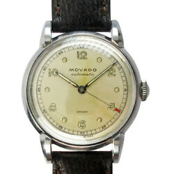 Movado Sport Bumper Automatic 16154 Automatic Winding Vintage Watch 1950and039s