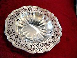 Durgin Antique Sterling Hand-engraved Heavy Bowl W/pedestalart Nouveau1900and039s
