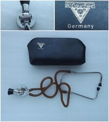 Stethoscope Medical Riester Germany Vintage W/original Leather Case
