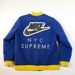 Supreme x Nike SB Varsity Jacket 2007 Release Blue/yellow Very Rare Size Large