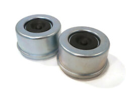 Pack Of 2 Grease Caps 2.64 With Rubber Plugs For 8 Lug Hub Trailer Axles
