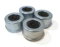 Pack Of 4 Grease Caps 2.72 With Rubber Plugs For 8 Lug Hub Trailer Axles