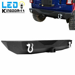Rear Bumper For 2018 2019 2020 2021 Jeep Wrangler Jl W/ D-ring Powder Coated
