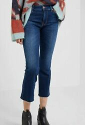 7 For All Mankind 7FAM Skinny Boot Jeans melrose Ladies Blue Pants 25L32 *REF83