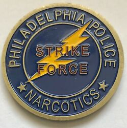 Ppd Philadelphia Police Department Narcotics Unit Strike Force Coin 1.5