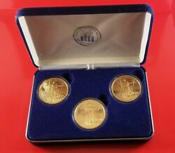 Vintage National Collectors Mint 1st And Last Double Eagle 3 Silver 1 Oz. Coins