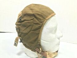 Ww2 Flight Cap Us Army Air Force Type A-9 Rusted Chinstrap Hook
