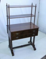 19th Century Victorian Cabinet With Shelves And Compartmentalized Drawers