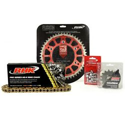 Gold X-ring Chain Red Rear Front Sprocket Kit W Brake Pads Fit Honda Cr250r 2003