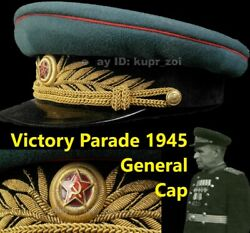 M45 Victory Parade General Cap Armour Troops Tankman Abtw Size 59-60 + History