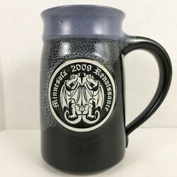 What Cheer Pottery Mn Renaissance 2009 Double Dragon Signed 'd 3 / 100 Tankard