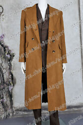 Doctor 10th Tenth David Tennant Who Cosplay Costume Suede Full Set Trench Coat