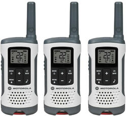 Motorola Radio Talkabout Rechargeable 2-way Noaa Weather Channel White 3-pack