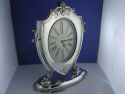 Sterling Reed And Barton Clock Waltham Art Deco W/ Scroll Shell Repousse