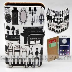 For Oppo Series - Antique Furniture Theme Print Wallet Mobile Phone Case Cover