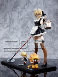 Saber Maid And Sd Fate Series Figure Resin Cast Pre-painted